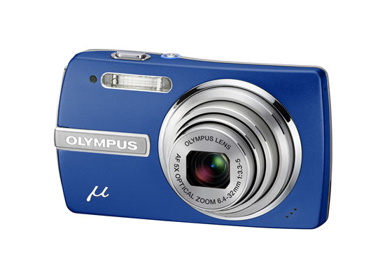 Olympus mju 840 blue side view