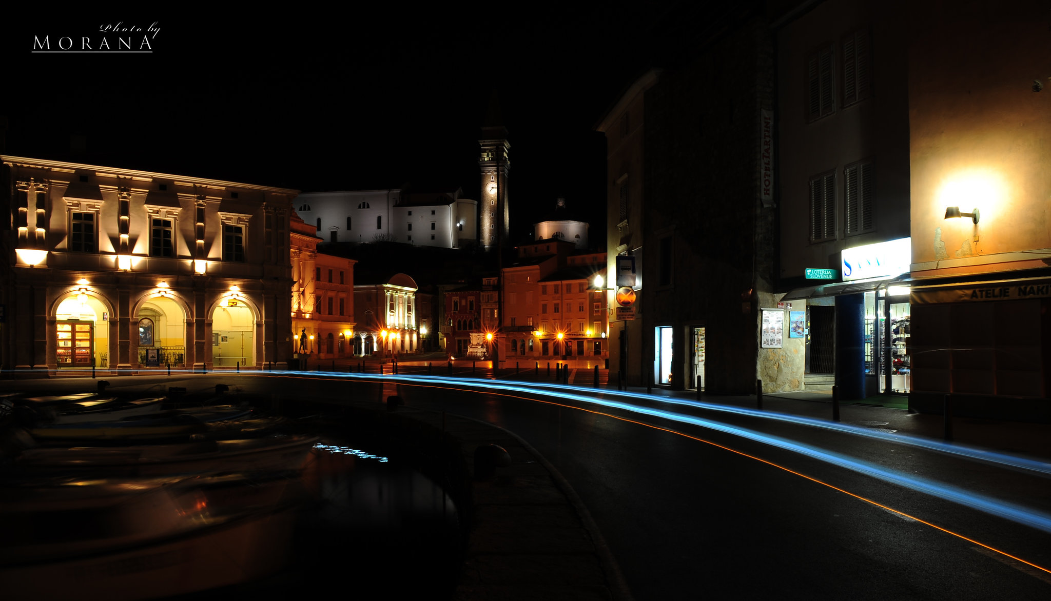 Old with the touch of the modern - Piran (long exposure)