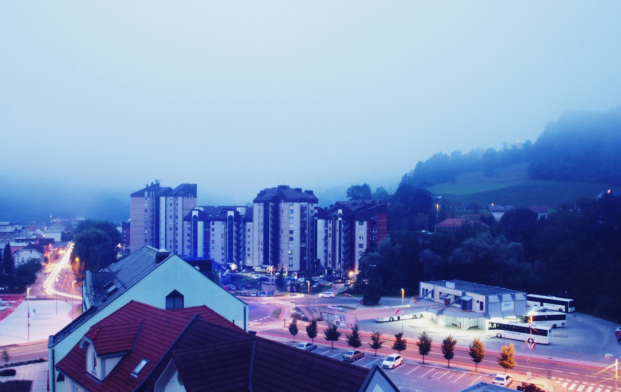 Morning view from my balcony, 5.30 am (: